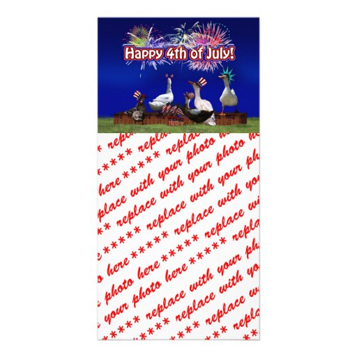 Ducky Celebration w/ ' Happy 4th of July ' Text Picture Card