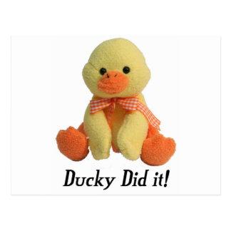Ducky Did It! Postcard
