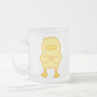 Ducky Frosted Glass Mug