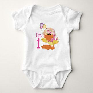 Ducky Girl 1st Birthday Baby Bodysuit