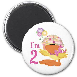 Ducky Girl 2nd Birthday Magnet
