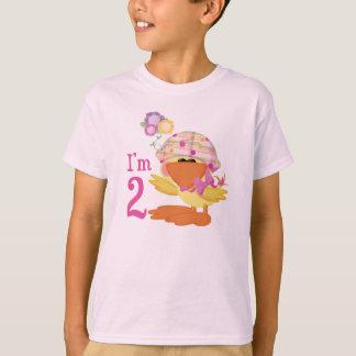 Ducky Girl 2nd Birthday T-Shirt