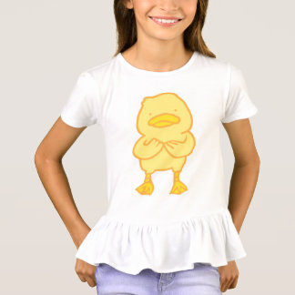 Ducky Girls' Ruffle T-Shirt A distinctive ruffled