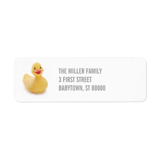 Ducky Kitsch Return Address Label