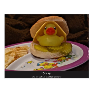 Ducky, not just for breakfast post card