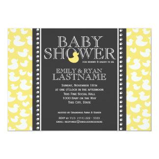 Ducky Pattern Baby Shower 13 Cm X 18 Cm Invitation Card