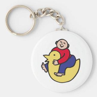 Ducky Rider Basic Round Button Key Ring