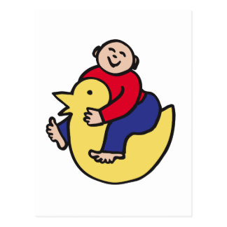Ducky Rider Post Card