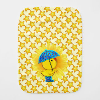 Ducky Sunshine Baby Burp Cloth