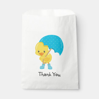 Ducky with Umbrella Thank You Favour Bag
