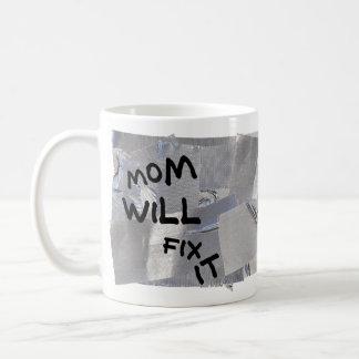Duct Tape Coffee Mug - Mom Will Fix It