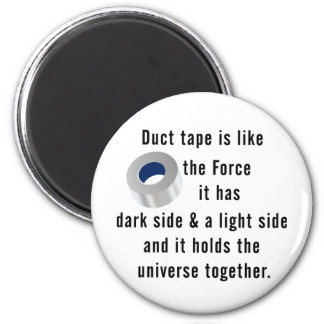 Duct Tape, Engineering humor 6 Cm Round Magnet