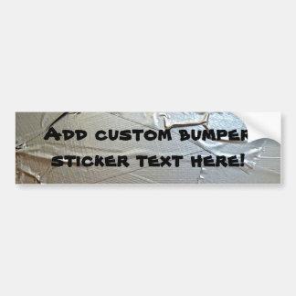 Duct Tape Look Bumper Sticker