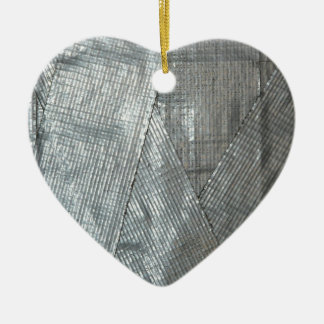 Duct Tape Love Ceramic Ornament
