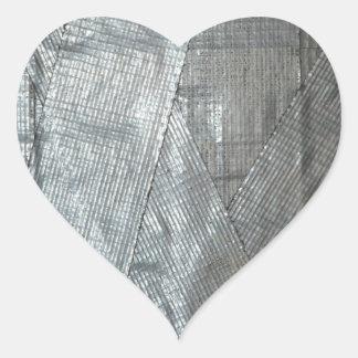 Duct Tape Love Heart Sticker