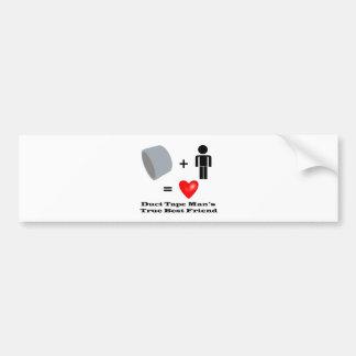 Duct Tape Man's Best Friend Handyman Humor Bumper Sticker
