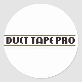 Duct Tape Pro Classic Round Sticker
