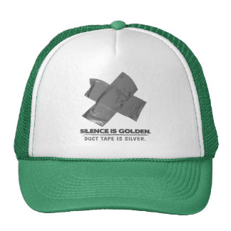 duct tape - silence is golden duct tape is silver trucker hats