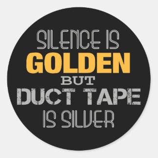 Duct Tape Round Sticker