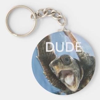 Dude Basic Round Button Key Ring