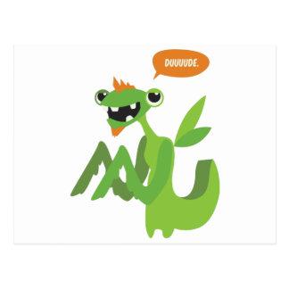 dude, cute cool animal cartoon design postcard