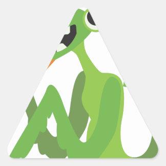 dude, cute cool animal cartoon design triangle sticker