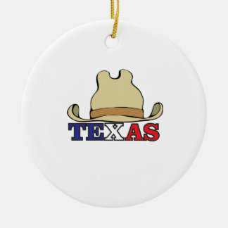 dude texas ceramic ornament