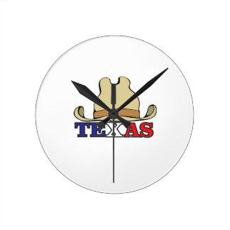 dude texas round clock