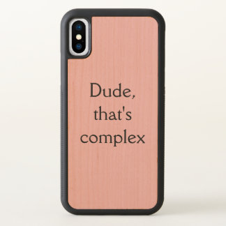 Dude that's complex,Orphan Black quote iPhone X Case
