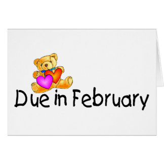 Due In February Card