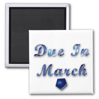 Due In March Magnet