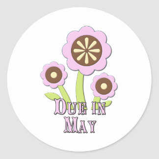 Due in May Expectant Mother Round Sticker