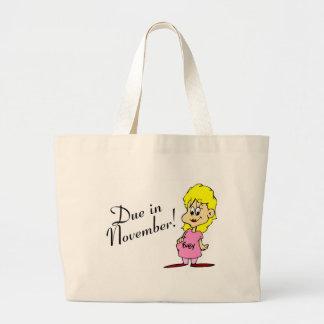 Due In November (Pregnant Woman) Tote Bag