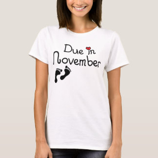Due in November T-Shirt
