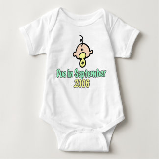 Due in September 2006 Baby Bodysuit