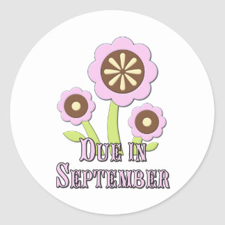 Due in September Expectant Mother Round Sticker