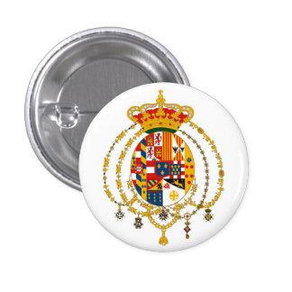 Due Sicilie Coat of Arms 3 Cm Round Badge