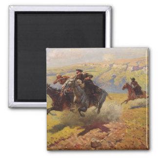 Duel, 1905 square magnet