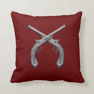 Duelling Antique Guns Throw Pillow