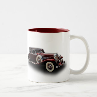 Duesenberg (Duesy) Model J Classic Car Two-Tone Coffee Mug