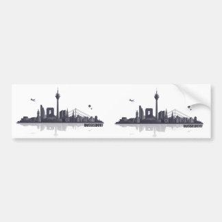 Duesseldorf skyline bumper sticker