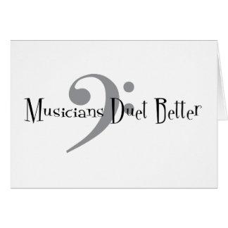 Duet (Bass) Greeting Card