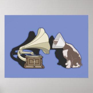 Duet - Dog & Gramophone Poster