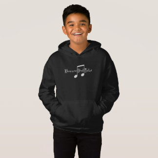 Duet (Notes) Boy's Dark Hoodie