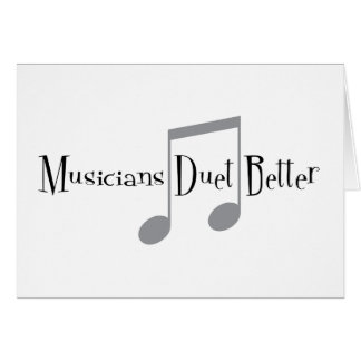 Duet (Notes) Greeting Card