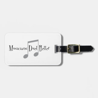 Duet (Notes) Luggage Tag