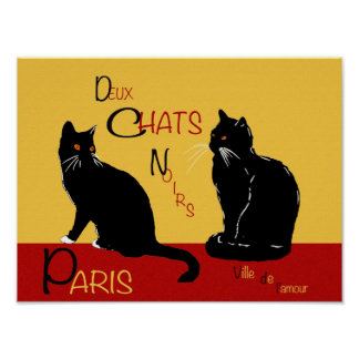 Duex Chats Noirs Poster