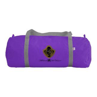 Duffle Gym Bag, Purple with Silver straps Gym Bag