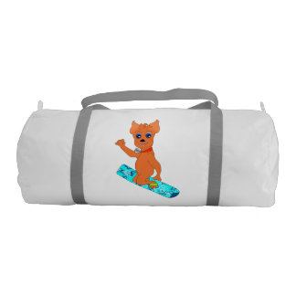 Duffly Sport Bag - Happy Snowboarding