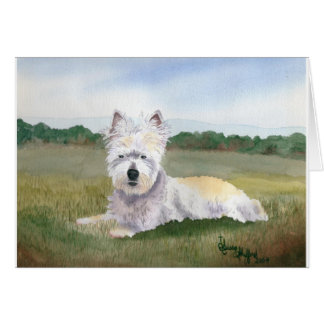 Duffy, West Highland Terrier Note Card